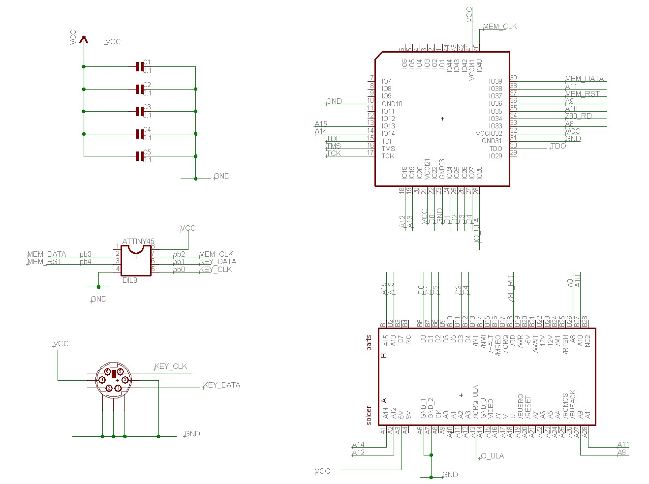 Yet Another Sinclair Spectrum At Keyboard Interface Schematic Diagram Click For Schematics